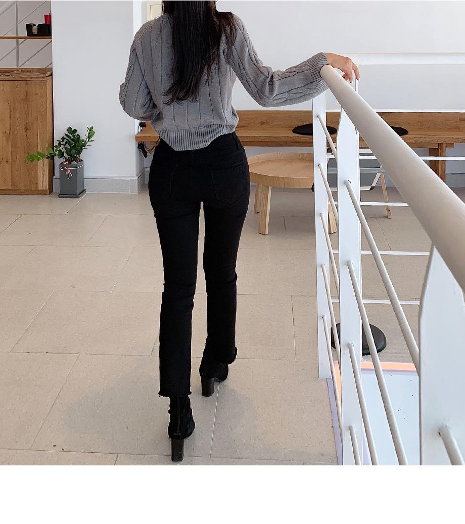세토리 베이직 반폴라 니트